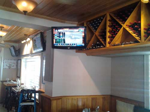TV in bar area for Lobstah's Resturant