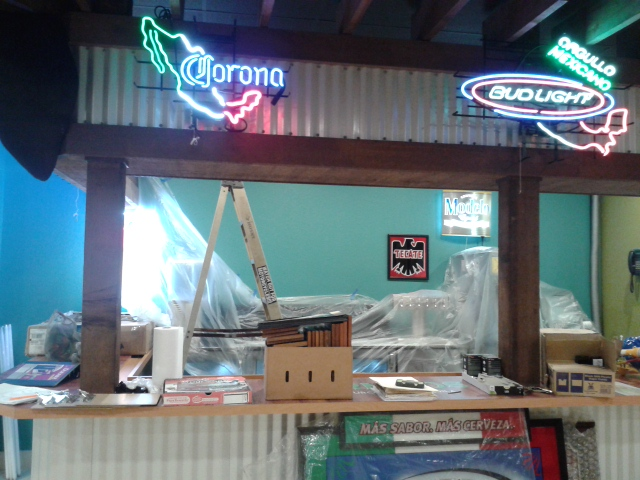 Neon lights at Mexicali Restaurant